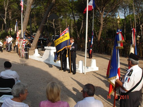 The Branch Standard Being Displayed At La Motte