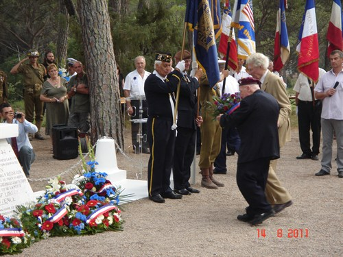 Branch Chairman Laying The Wreath At La Motte With The Late Peter Matthews