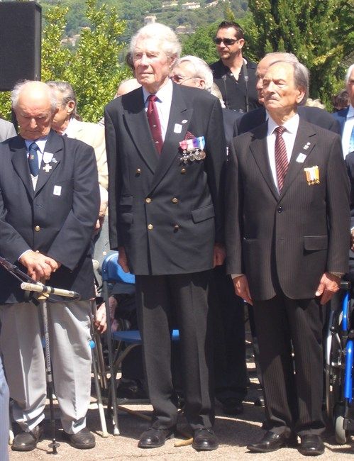 Branch Chairman And Others - VE Memorial Ceremony , Mougins