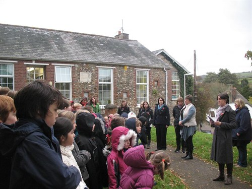 Sidbury School Children Remembrance 9 Nov 2012