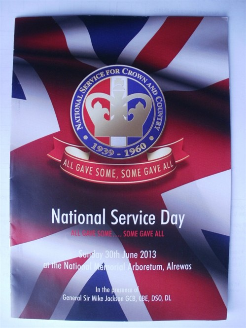 The service sheet for the NationalService Day service.