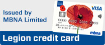 Sign up for a Legion credit card issued by MBNA Limited