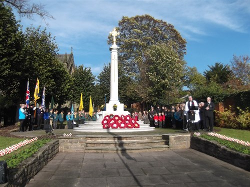 Image result for war memorial ruddington poppies