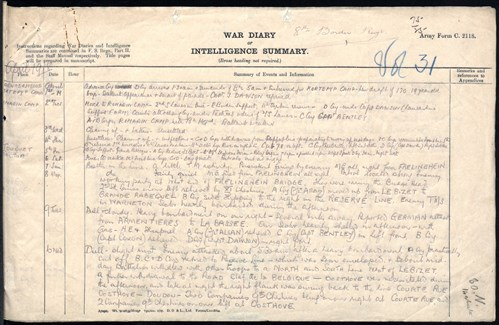 Boarder Regt War Diary April 1918 1