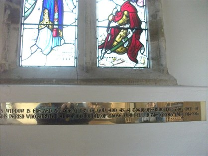 Moreton Pinkney Mem Window