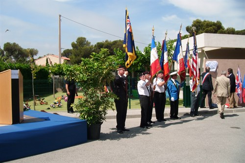 3. Standard Bearers during the unveiling ceremony.JPG