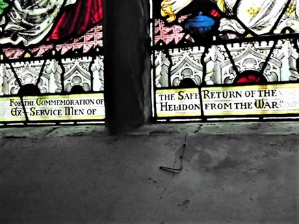 Helidon 's Other Memorial Window Inscription