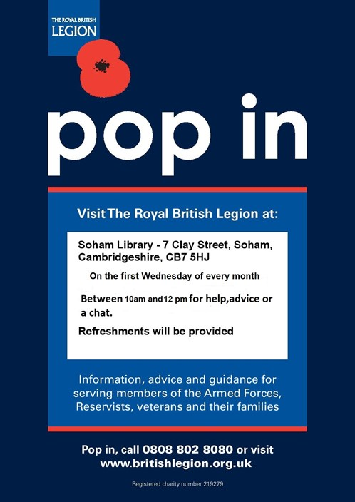 Drop In Poster Soham -Wed