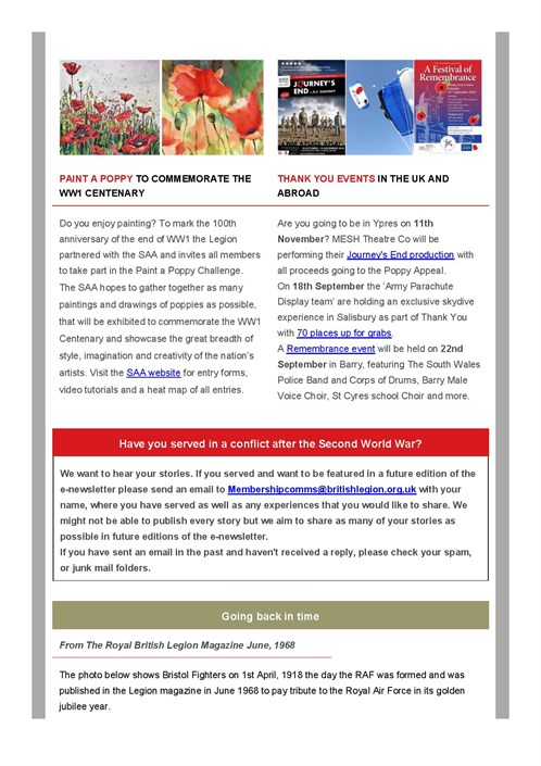 Membership E -newsletter July 2018 - Members And Branches Commemorating T ...-page -006