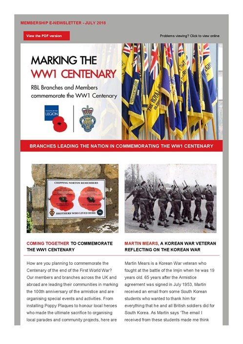 Membership E -newsletter July 2018 - Members And Branches Commemorating T ...-page -001