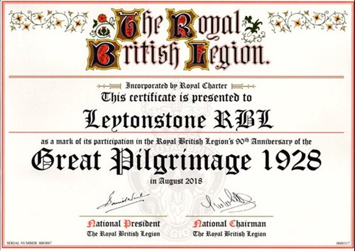 Great Pilgrimage 90 Certificate